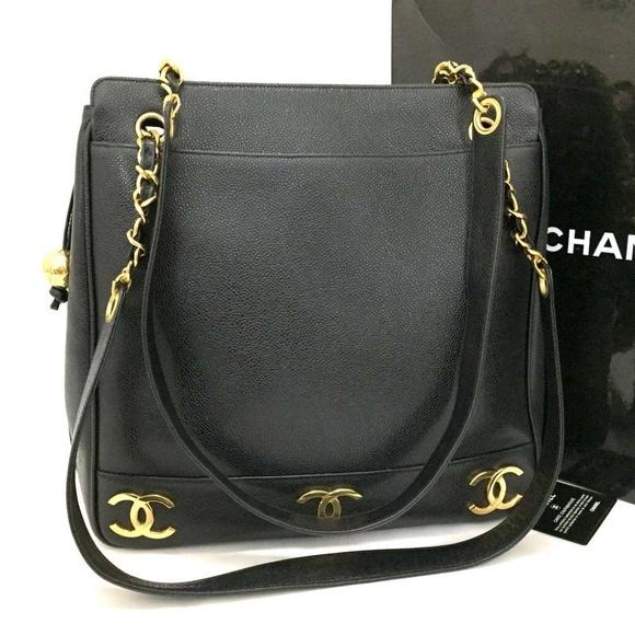 c50bbdef8473 CHANEL Handbags - 100% Auth CHANEL Triple Coco Caviar Skin CC Chain